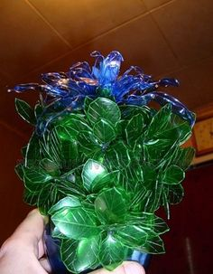 recycling plastic bottles: exotic flowers from plastic bottles | make handmade, crochet, craft