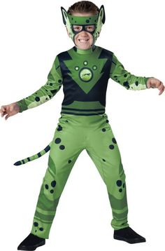 Boys Green Cheetah Muscle Costume - Wild Kratts - Party City