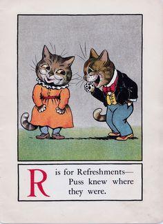 A CAT ALPHABET - R