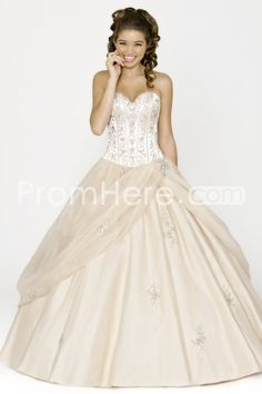 US $219.99 2014 Long Sweetheart Beading Sleevelessss Tulle Quinceanera Dresses