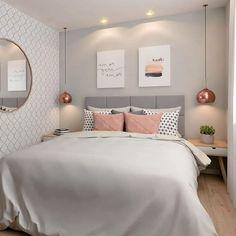 20 inspirations pour aménager et décorer toutes les petites chambres Dream Rooms, Dream Bedroom, Home Decor Bedroom, Warm Bedroom, Bedroom Art, Bedroom Themes, Teen Bedroom, Bedroom Colors, Girl Bedroom Designs