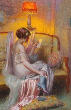 'Love Letter' .@@@@......http://www.pinterest.com/caroleminiature/histoire-de-femmes/