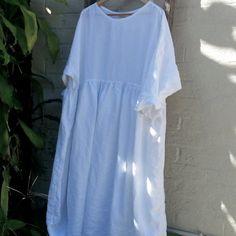 Oversized Long Linen Dress by MegbyDesign on Etsy, $320.00