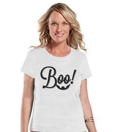 Custom Party Shop Womens Boo Halloween T-shirt