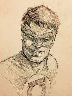 Green Lantern, Dave Seguin on ArtStation at https://artstation.com/artwork/green-lantern-be283d4e-6bb7-40db-8115-a53b2b58b100