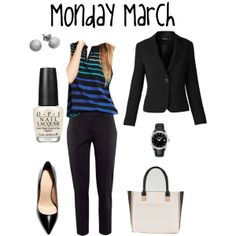"""""""monday march"""" by lizmau on Polyvore"""