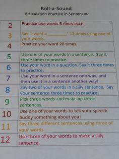 Childhood Apraxia of Speech-Great way to make repetition fun and would work to focus on getting ending sounds