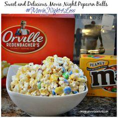 Sweet and Delicious Movie Night Popcorn Balls. #MovieNight4Less