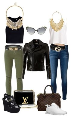 Citychic by tamara-katharina on Polyvore featuring polyvore, fashion, style, T By Alexander Wang, Yves Saint Laurent, J Brand, 7 For All Mankind, Steve Madden, NIKE, Louis Vuitton, Sole Society, Lucky Brand, Jimmy Choo, Gucci, Moschino and clothing