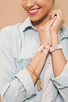 Layered Vintage Sweet & Spark Bracelets & Mane Message Hair Ties