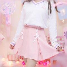 Fashion printing fleece pullover from Asian Cute {Kawaii Clothing} Outfits Kawaii, Kawaii Dress, Kawaii Clothes, Pink Outfits, Pretty Outfits, Cool Outfits, Pastel Clothes, Harajuku Fashion, Kawaii Fashion