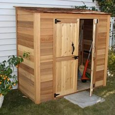 4 ft x 2 ft cedar garden storage shed brownstans outdoor living gardens and storage