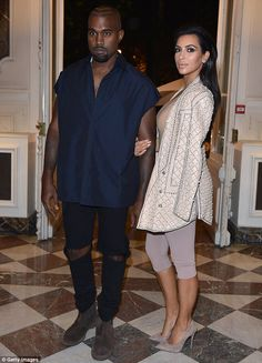 Cautious: Kim Kardashian and Kanye West are said to be ramping up security for the rest of...