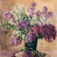 Still life with lilacs by William H. Krippendorf