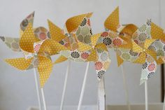 Excited to share this item from my shop: Gender neutral Baby Shower decorations, Wedding Shower Pinwheels 12 Mini Pinwheels Yellow Sunrise (custom orders welcomed) Baby Shower Decorations Neutral, Wedding Shower Decorations, Gender Neutral Baby Shower, Baby Shower Fun, Birthday Decorations, Birthday Ideas, Pinwheel Decorations, Diy Pinwheel, Custom Wedding Favours