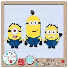 Minions Cutting Files I normally dont buy but I think I need this one!