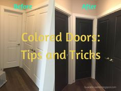 Tips and Tricks for Coloring your Doors