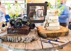 Zedler Mill Country Wedding Cake Table Jeep