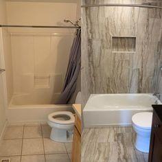 Bathroom renovation Residential Contractor, Next At Home, Bathtub, Construction, Bathroom, Instagram, Standing Bath, Building, Washroom