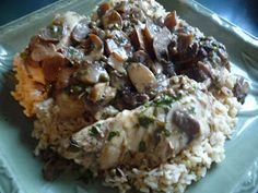 Clean Eating Machines: Chicken and rice... with mushrooms!
