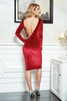 Rochie PrettyGirl Smokey Trend Red - http://hainesic.ro/rochii/rochie-prettygirl-smokey-trend-red-77edbc0a5-starshinersro/