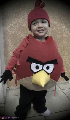 Little Angry Bird - No-Sew DIY costume!