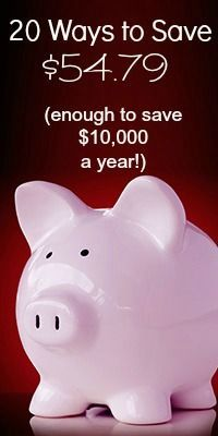 Save $10,000 a Year!!  Hmmm...not sure I believe it, but I'll Pin it now to read it later.