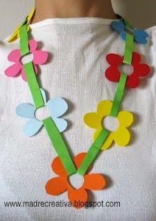 * Bloemenketting! Leuk om met vilt te maken