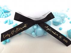 "Signature Script Favor Ribbon 5/8"" - Regal Ribbons"