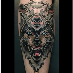 12 Cunning Wolf In Sheep& Clothing Tattoos Wolf Tattoos, Head Tattoos, Animal Tattoos, Body Art Tattoos, Sleeve Tattoos, Tattoo Sleeves, Leg Sleeves, Tatoos, Wolf Tattoo Design