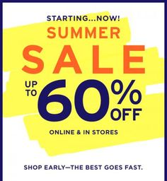 Gap Summer Sale - Up To 60% Off