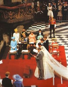 Prince Charles & Lady Diana at the The Prince Of Wales, Lady Diana & her Father the Earl Spencer stand at the alter of St. Prince Charles Diana Wedding, Princess Diana And Charles, Princess Diana Rare, Princess Diana Wedding, Princes Diana, Royal Princess, Diana Wedding Dress, Prinz Charles, Storybook Wedding