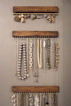 30 Brilliant DIY Jewelry Storage Display Ideas Stylish jewelry