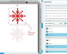 Silhouette Studiuo: Design Your Own Snowflake #MaritzaLisa