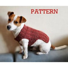 Dog Sweater Crochet pattern by TheMailoDesign
