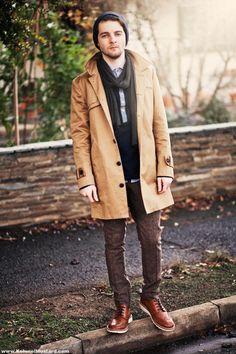 mens fashion, coat, scarf, hat, pant, fashion