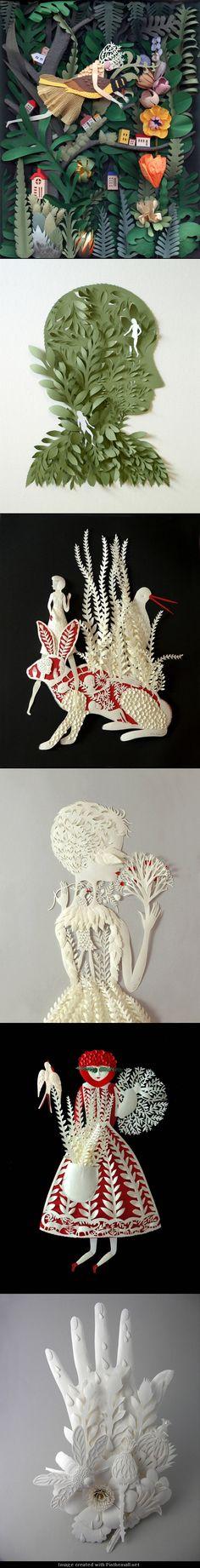 Elsa Mora cut paper art - created via http://pinthemall.net