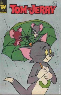 Tom and Jerry Whitman) comic books Walt Disney, Disney Toms, Cartoons Love, Cartoon Posters, Classic Cartoon Characters, Cartoon Styles, Classic Comics, Classic Cartoons, Vintage Cartoon