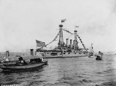 USS-Connecticut-Battleship-Hudson-River-New-York-City-1911-WWI-Era