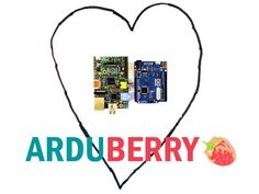 Arduberry: Unite Raspberry Pi and Arduino by Dexter Industries — Kickstarter.  Arduberry unites Arduino shields and the Raspberry Pi with a simple, inexpensive hardware solution. Slide on, copy your code, and go.