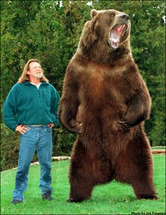 Doug Seus trains bears.    -    No, don't train them, just cuddle them and stuff.