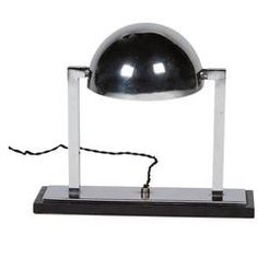 Chrome Desk Lamp by Jacques Adnet, French, circa 1930