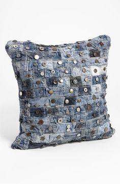 love this idea ~ denim pillow