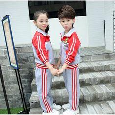 efcb79856 CH05419 Girl boy child school uniforms 2pcs set Kids Uniforms, School  Uniforms, North Asia