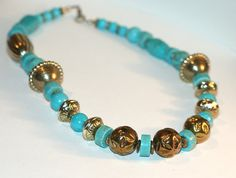 Turquoise Howalite Handmade Necklace