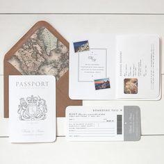 Passport wedding invites in my facve colour get these beauties from around the world passport booklet wedding invitation stopboris Images