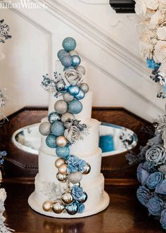 Wedding season is in the warmer months but a winter wedding can be glamorous, cinematic & magical. Winter Wonderland Wedding Theme, Winter Wonderland Decorations, Winter Wedding Decorations, Winter Themed Wedding, Winter Weddings, Blue Wedding, Wedding Season, Dream Wedding, Xmas Wedding Ideas