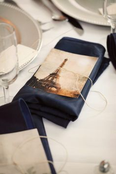 table setting w/postcards