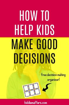 Step by step guide to teach children the decision making process. This article also includes a free decision making organizer and scenario cards to help children practice using the decision making process steps. Problem Solving Activities, Social Skills Activities, Problem Solving Skills, Best Parenting Books, Parenting Plan, Kids And Parenting, Difficult Children, Positive Parenting Solutions, Social Emotional Learning