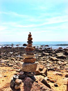 Cairn Piles Block Island, Rhode Island